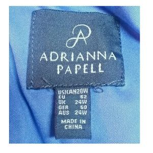 Adrianna Papell Dresses - Adrianna Papell Periwinkle Blue Dress Size 20W